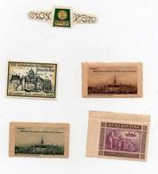 Erinnophilie Vignette Bénédictine De Fécamp La Grande Liqueur Française XIIIème Centenaire 1958 (5 Vignettes) - Commemorative Labels