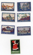 Erinnophilie Vignette Berger Kakao Schocolade (7 Vignettes) - Commemorative Labels