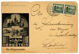 """""""HERBSTEIN"""" Sonderstempel 1936 Nr. 637 MEF Vorderseite - Lettres & Documents"""