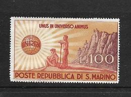 SAINT-MARIN 1946 UNRRA  YVERT N°278  NEUF MH* - Saint-Marin