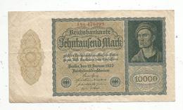 Billet , Allemagne ,  Reichsbanknote , 10000mark, Berlin 19 Januar1922, 2 Scans, Frais Fr 1.55 E - [ 3] 1918-1933 : République De Weimar