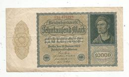 Billet , Allemagne ,  Reichsbanknote , 10000mark, Berlin 19 Januar1922, 2 Scans, Frais Fr 1.55 E - [ 3] 1918-1933: Weimarrepubliek