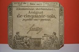 ASSIGNAT DE CINQUANTE SOL Série 2277 - - Assignats & Mandats Territoriaux