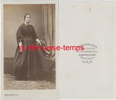 CDV Second Empire-femme Austère Mode-photo De Saint Sulpice Et Luxembourg C. Desroches Paris - Photos