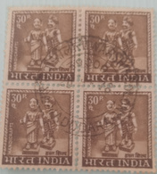 P)....FOUR  Stamps Used Block.. India Inde. - Blocs-feuillets