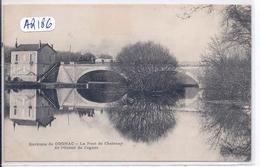 CHATENAY- LE TRAIN AU PASSAGE DE L OCTROI DE COGNAC SUR LE PONT DE CHATENAY - Autres Communes