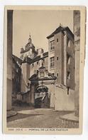 (RECTO / VERSO) DOLE EN 1946 - N° 6285 - PORTAIL DE LA RUE PASTEUR - BEAU CACHET ET TIMBRES - CPA VOYAGEE - Dole