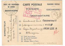 17868 - Pour OFLAG  XVII A DOLLERSTEIN EDELBACH - Storia Postale