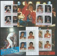 St Vincent 1985 Michael Jackson Set Of 4 Miniature Sheets Fine MNH - St.Vincent & Grenadines