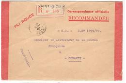 17877 - CORRESPONDANCE  OFFICIELLE 40 / Pli Rouge - Lettres & Documents