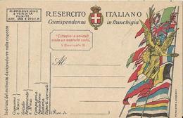 6-CARTOLINA  R.ESERCITO ITALIANO-CORRISPONDENZA IN FRANCHIGIA-NUOVA - Guerra 1914-18