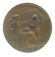 Médaille ,1579-1898,  AGENTS DE CHANGE DE PARIS ,  Cuivre , Roty,  Diamètre 37 Mm ,ET. SERVAT. ET. AUGET - Professionnels / De Société
