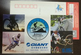Bicycle,mountain Biking,2011 DH World Champions,China 2014 Giant Cycling Club Advertising Pre-stamped Card - Cyclisme