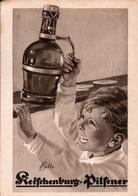 ! Werbung, Reklamekarte Ketschenburg Pilsener, Stolberg, Bier, Beer - Advertising