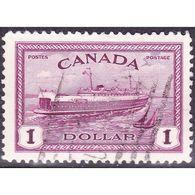 CANADA 1946 QEII $1 Purple SG406 Used - 1911-1935 Reign Of George V