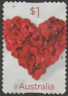 AUSTRALIA - DIE-CUT-USED 2016 $1.00 Love To Celebrate - Rose Heart - 2010-... Elizabeth II