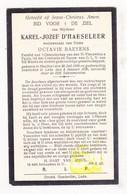 DP Karel J. D'Haeseleer ° Haaltert 1850 † Lede 1926 X Octavie Baeyens - Imágenes Religiosas