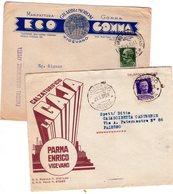 ITALIA   Storia Postale 2 Buste Pubblicitarie - 1900-44 Vittorio Emanuele III