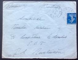 V38-3 Semeuse 25c Vers Russie Paris R.Danton 17/7/1911 Cachet D'arrivée 6/7/1911 - Postmark Collection (Covers)