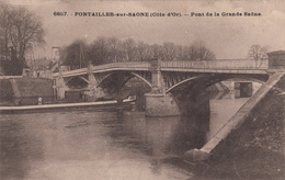 21 - PONTAILLER -sur- SAÔNE - Pont De La Grande Saône - France