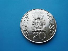 NOUVELLE ZÉLANDE   20  Cents  2002   -- SUP --   New Zealand  -- - New Zealand