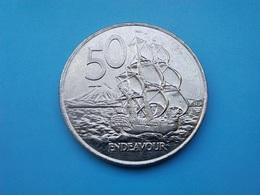 NOUVELLE ZÉLANDE  50  Cents  2003   -- SUP --   New Zealand  --   Endeavour - Nieuw-Zeeland
