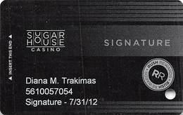 Sugar House Casino - Philadelphia, PA - Slot Card - 3 Lines Text Bottom Reverse - Casinokarten