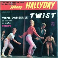 Disque De Johnny Hallyday - Viens Danser Le Twist - PHILIPS Medium 432.593 BE - 1961 - - Rock