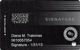 Sugar House Casino - Philadelphia, PA - Slot Card - PG Over Mag Stripe - Casinokarten