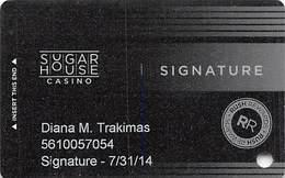 Sugar House Casino - Philadelphia, PA - Slot Card - 2 Lines Text Bottom Reverse - Casinokarten