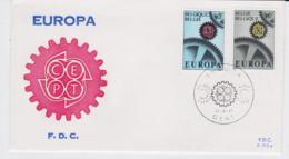 Belgium 1967 FDC Europa CEPT (T10-25) - 1967