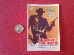 SPAIN ANTIGUO PROGRAMA DE CINE FOLLETO MANO OLD CINEMA PROGRAM PROGRAMME FILM PELÍCULA LA VENGANZA CLARK HARRISON VER - Publicidad