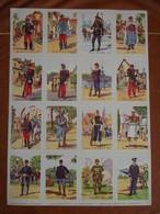 Planche éducative Volumétrix - N°150 - Les Uniformes III - Libri, Riviste, Fumetti