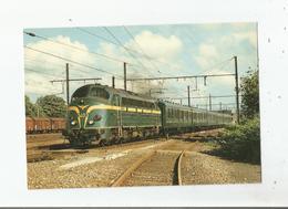 A GEMBLOUX LA CC 5403 AVEC UNE RAME DE 6 VOITURES TYPE L SUR LA LIGNE BRUXELLES-NAMUR LE 9 JUIN 1985 - Gembloux