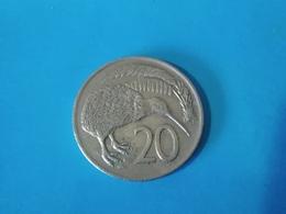 NOUVELLE ZÉLANDE  20  Cents  1975   -- TTB --   New Zealand  --   Kiwi - Nieuw-Zeeland