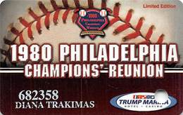 Trump Marina Casino - Atlantic City NJ - Slot Card - 1980 Phila Champions Reunion - Limited Edition! - Casinokarten