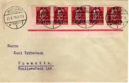 "German States > Bavaria Letter Ingolstadt - 25.09.1919 FDC Letter - Charity Stamps - Overprinted ""Für Kriegsbeschädigte"" - Bayern"