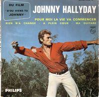 Disque De Johnny Hallyday - Pour Moi La Vie Va Commencer - PHILIPS M 434.905 BE - 1963 - - Rock