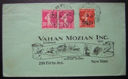 1926, Lettre Pour Vahan Mozian Inc à New York Dealers In Postage Stamps, Belle Enveloppe ! - Poststempel (Briefe)