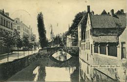 CPA BRUGES Partie Du Quai Vert - Brugge
