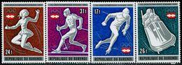 AT4065 Burundi 1976 Winter Olympics Skis And Other 4V MNH - Winter 1976: Innsbruck
