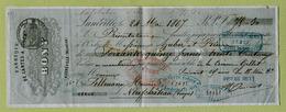 """LUNEVILLE  (1867) : """" BONY - FABRIQUE DE CARTES A JOUER """"  Pour NEUFCHATEAU - France"""