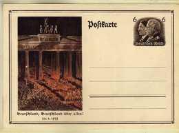 Germany - Stamped Stationery Postcard - UNUSED - Deutchland Uber Alles 1933 - Germania