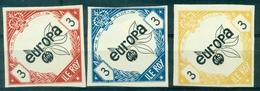 FRANCE 3 Vignettes EUROPA 1965 N Xx Non Dentelées ILE ROY Rare Tb. - Commemorative Labels