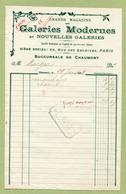 """CHAUMONT  (1908) : """" GALERIES MODERNES  Et NOUVELLES GALERIES """" - France"""