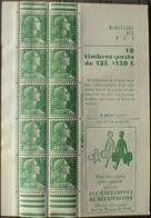 R1949/885 - 1955 - TYPE MARIANNE De MULLER - CARNET NEUF** N°1010-C3 (sans Numéro Vert) - Standaardgebruik