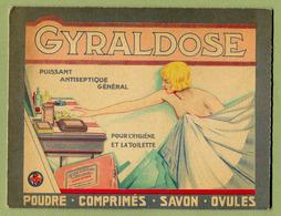GYRALDOSE : CARTON PUBLICITAIRE PHARMACEUTIQUE ( FEMME ART-DECO ) - Paperboard Signs