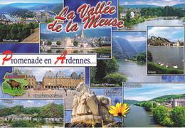 08 ARDENNES - CARTE GEOGRAPHIQUE ET MULTIVUES / VALLEE DE LA MEUSE - PROMENADE EN ARDENNES - Cartes Géographiques
