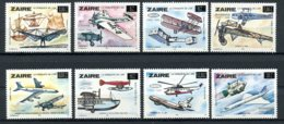 Zaire, 1985, Aviation, Airplanes, MNH Overprinted, Michel 880-887 - Other
