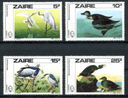 Zaire, 1985, Audubon Birds, Animals, MNH, Michel 904-907 - Zaïre